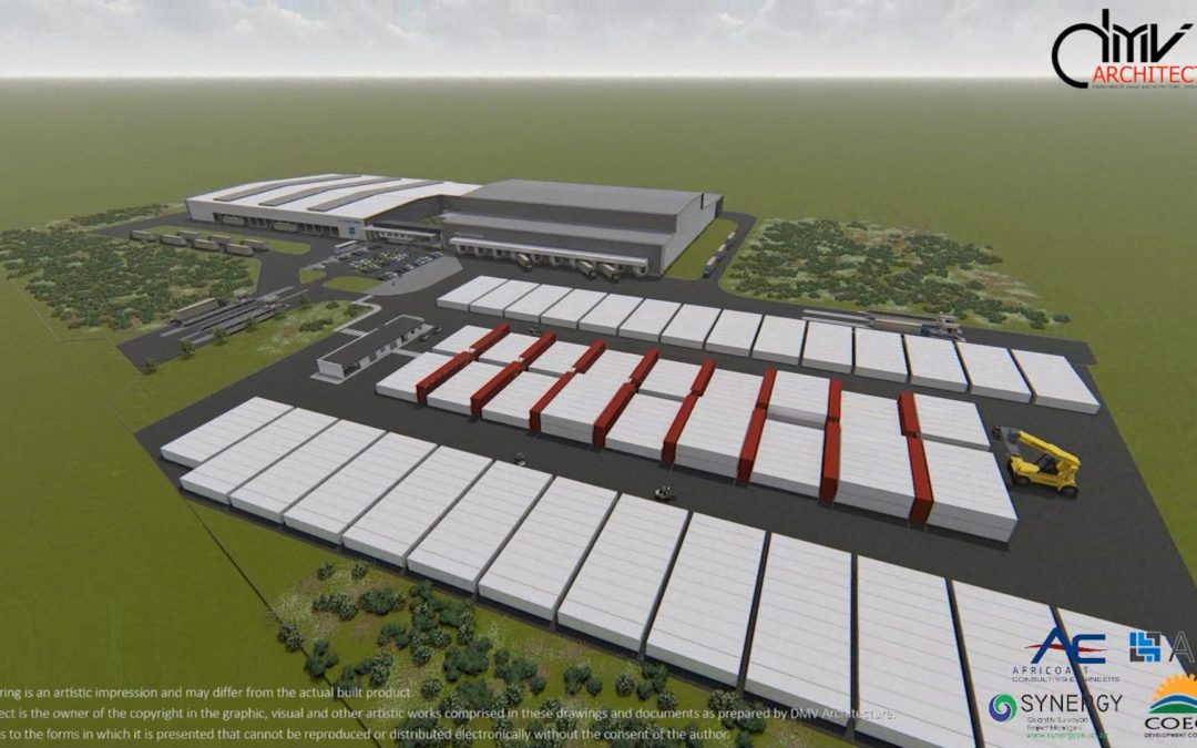 Coega IDZ: Cold Storage, Packhouse, Office and Ablutions, Container Yard.